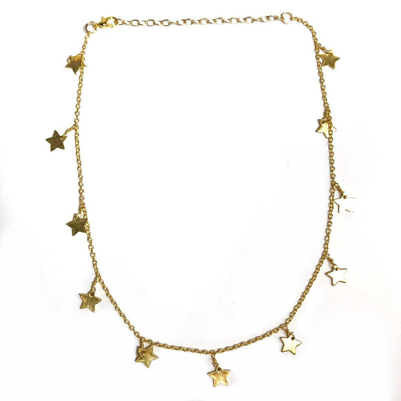Nikki Smith Designs - Golden All Star Choker, , Nikki Smith Designs, Faire, Jewelry, Necklaces, This star charm choker adds serious style in every way. We love this beautifully crafted piece, and so do you-it's one of our best sellers! So fun but also simple, this golden choker will always be a favorite piece that you can wear with anything. 12 inches with a 2.5 inch extender. Gold plated sterling silver This choker will not turn or tarnish