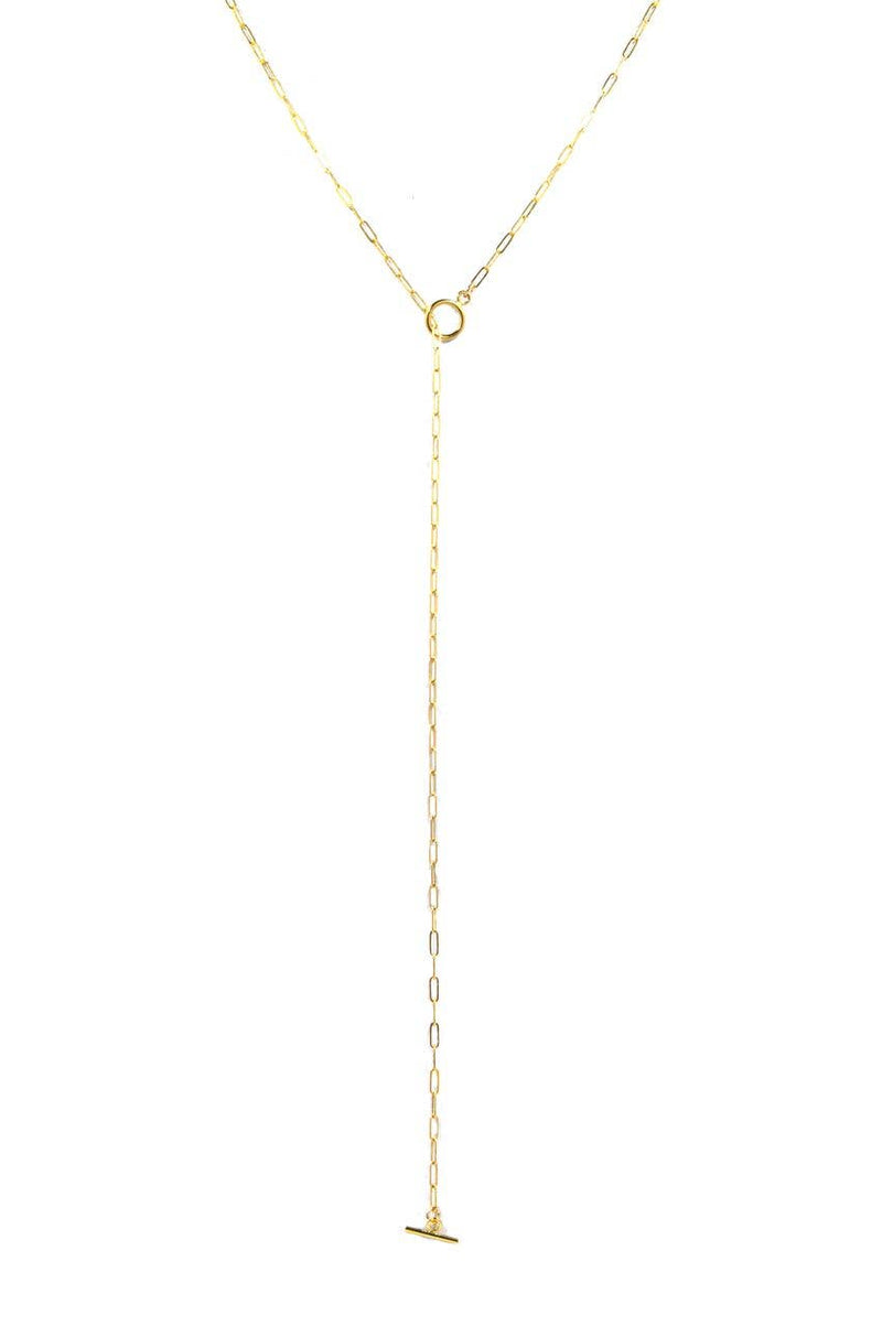 "Bent by Courtney - Jo Lariat, , Bent by Courtney, Faire, Jewelry, Necklaces, 14k Gold Filled . Toggle Closure . 24"" long."