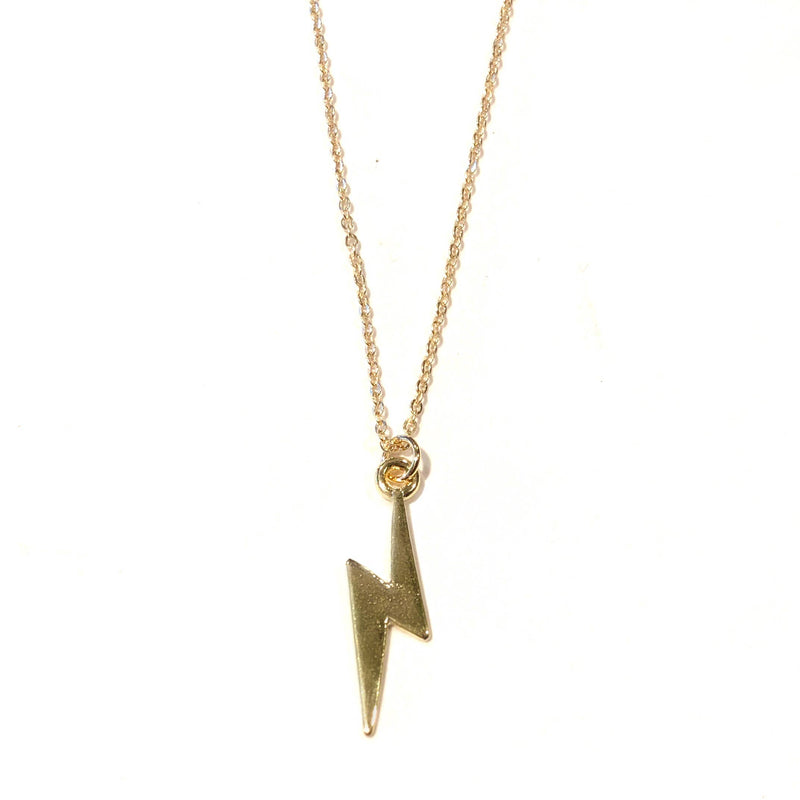 Nikki Smith Designs - Midlength Lightning Bolt Necklace, , Nikki Smith Designs, Faire, Jewelry, Necklaces, We love lightning bolts and so do our customers! Now available in a mid-length necklace (24 inches), this little lightning bolt piece will complete your look for any occasion. Don't pass up on this unique necklace! 24 inches in length
