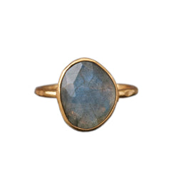 Gold Plated Cut Moonstone Ring, Rings, Baizaar, Rings, Gold Plated Moonstone Ring By Baizaar. Sterling silver and gold plated collection. Available in faceted moonstone and labradorite.