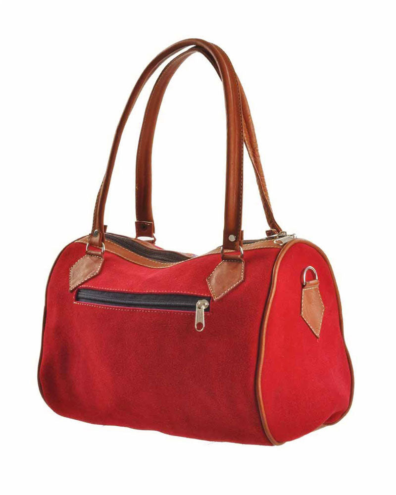 Cuenca Satchel in Lipstick, handbag, Wherevershegoes, Cuenca, Handbag, satchel, The Cuenca Satchel is the perfect accessory for any outfit. Fully-lined with a zippered pocket inside, the two leather top-handles allow you to grab it and go. Design and color may vary as each is one-of a-kind. Height 7.5 inches Width 11 inches Length 5 inches