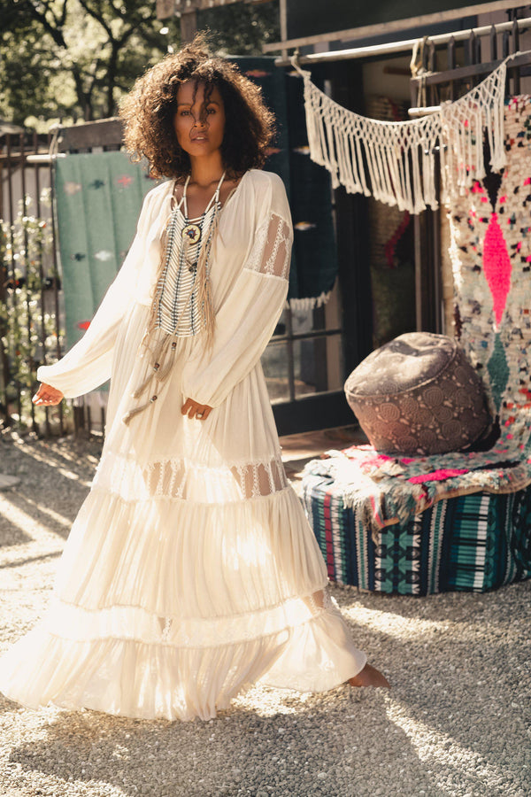 Pemba Maxi Dress by Island Tribe-kaftan-Wherevershegoes