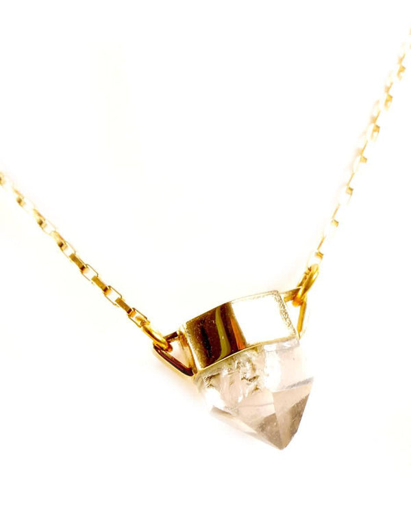 Rock Crystal Quartz Necklace-Small-necklace-Wherevershegoes