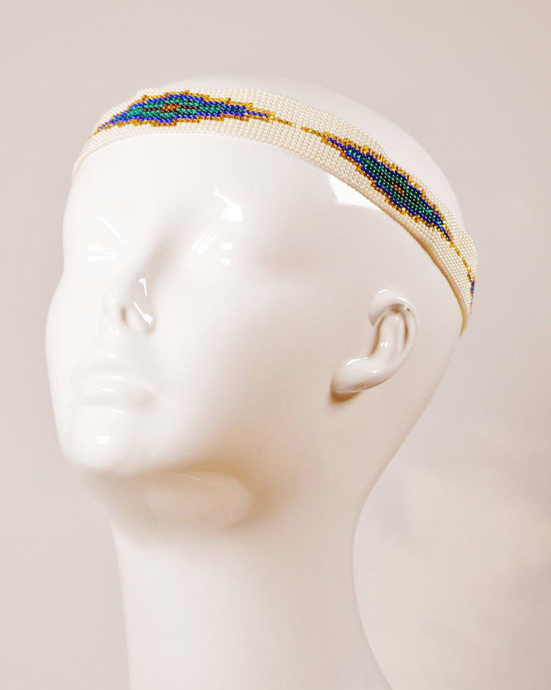 Taxco Beaded Band, Headband, Wherevershegoes, beaded, belt, hat band, headband, Handmade in Taxco, Mexico, our Tulum beaded band has a multitude of uses. Wear it as a headband, around your waist as a belt, or tie it around your favorite hat. Adjustable tie allows endless options for styling. Each piece is one of a kind so color and pattern may vary slightly. One size fits most. Available in: white diamond pattern By Quarzoma Jewelry