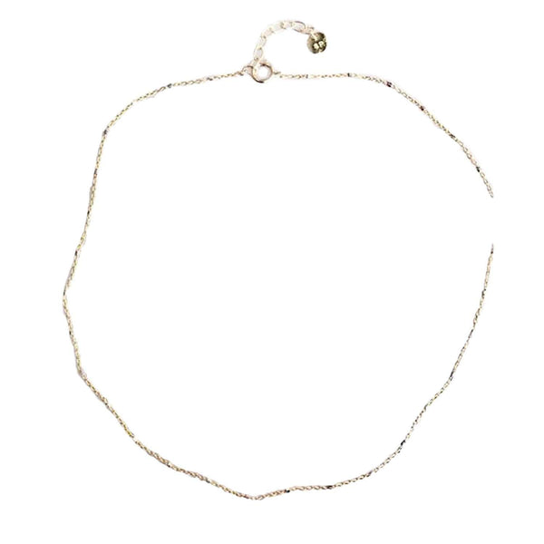 "Caroline Necklace, necklace, Sonya Renee, Necklaces, 13"" + 1"" extender, SR accent charm, acorable simple and delicate choker chain, perfect for all summer long and layers. Available in gold and rose gold tone. plated brass. By Sonya Renee Jewelry"