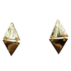Rafter Studs Earrings, , Sonya Renee, , Plated brass, double triangle studs. By Sonya Renee Jewelry