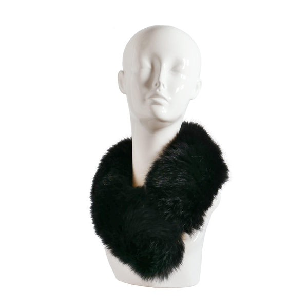 Faux Fur Collar in Black, furs, Wherevershegoes, Fur, furs, headband, scarf, Versatile and luxurious, this beautiful faux fur collar can be worn around the neck or head. Made in Prague of the highest quality, faux-fur, it is fully-lined, warm and comfortable. Small velcro closure keeps it in place. Black faux fur. Due to the nature of the fur, the product color and shape will vary. One size fits most.