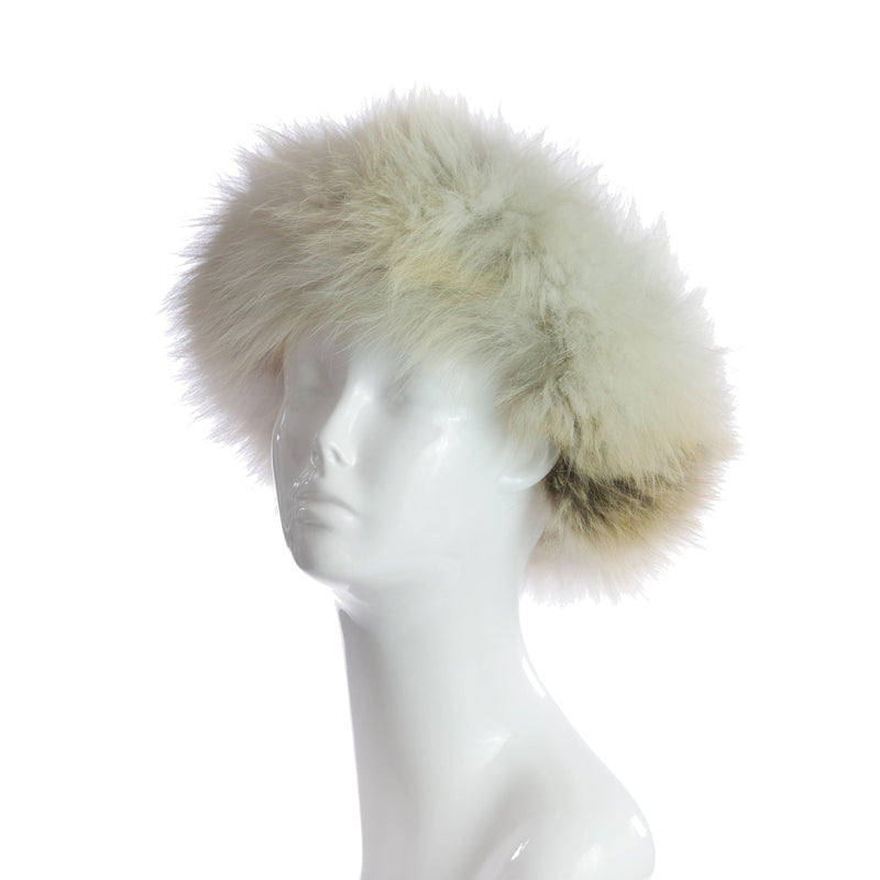 Faux Fur Headband in Golden-furs-Wherevershegoes