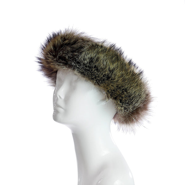 Faux Fur Headband in Sable-furs-Wherevershegoes