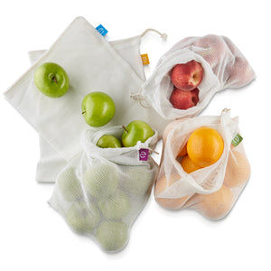 Re-Bag 5 Cotton Produce Bags included in Set