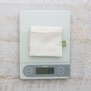 Produce Bag weighs approx. 24 grams.
