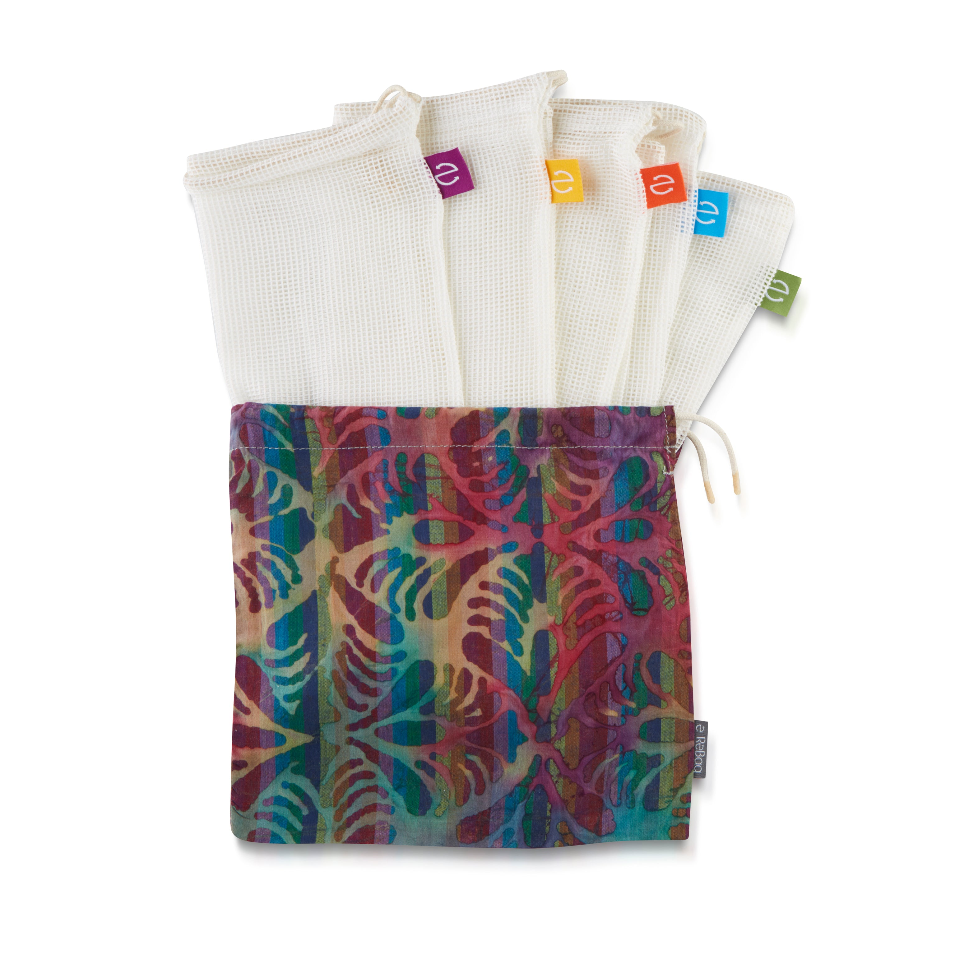 Copy of 5x Produce Bags + Batik Carry Bag