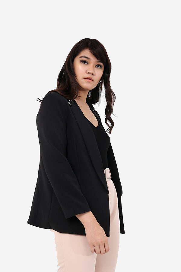 Blazer With Buckle Detail