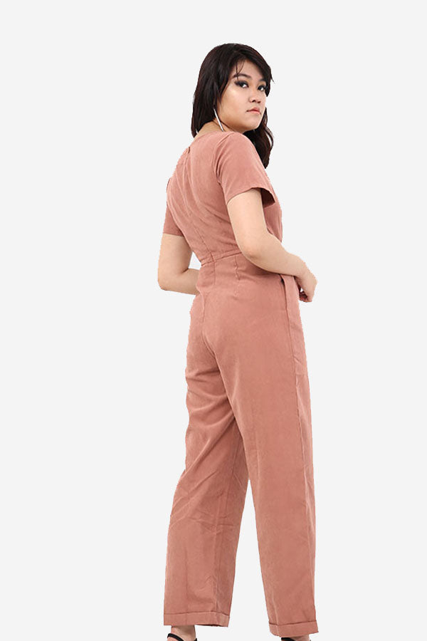 Pink Wide Leg Jumpsuit