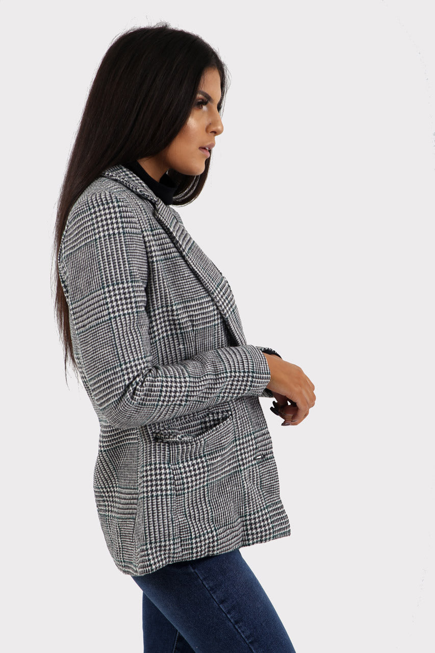 Grey Plaid Blazer