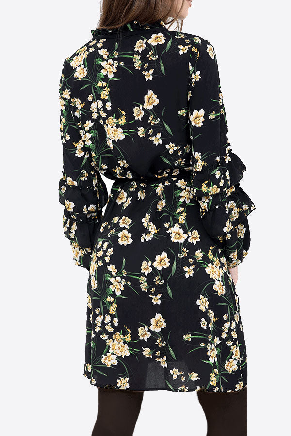 Black Floral Shift Dress