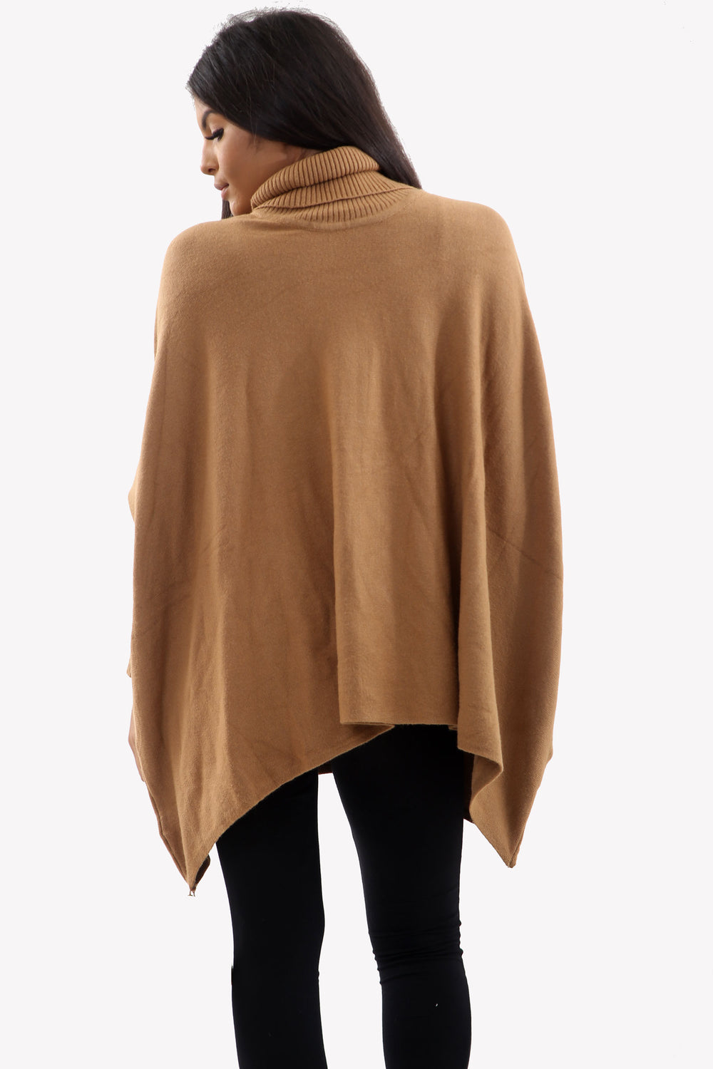 Camel Roll Neck Batwing Oversized Soft Jumper