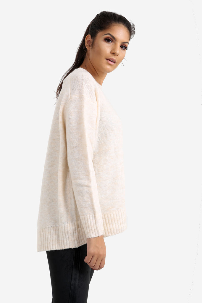 White Relaxed Fit Jumper