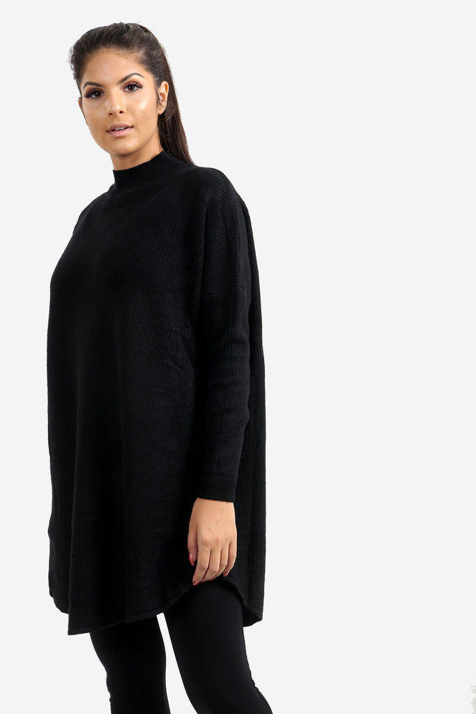 Black Oversized Jumper