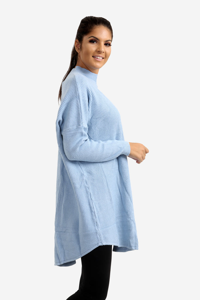 Light Blue Oversized Jumper