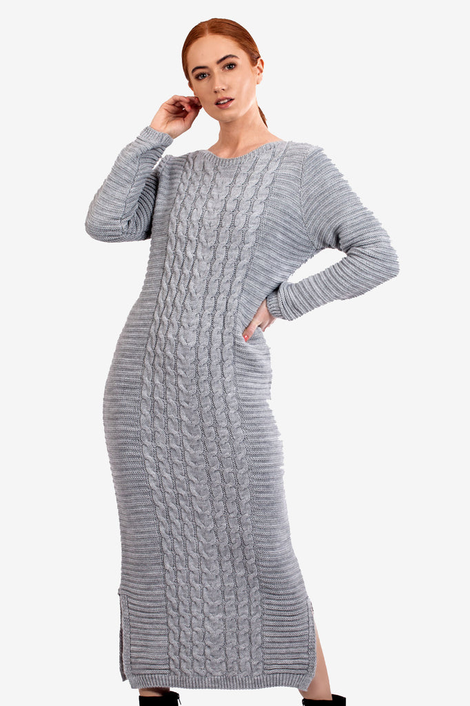 Cable Knit Maxi Jumper Dress