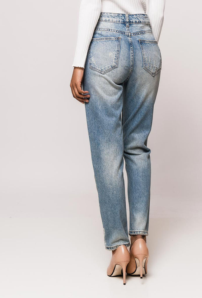 Light Blue High Waisted Mom Jeans