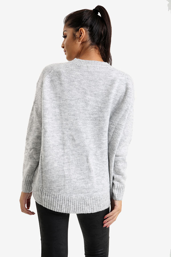 Grey Oversized Jumper