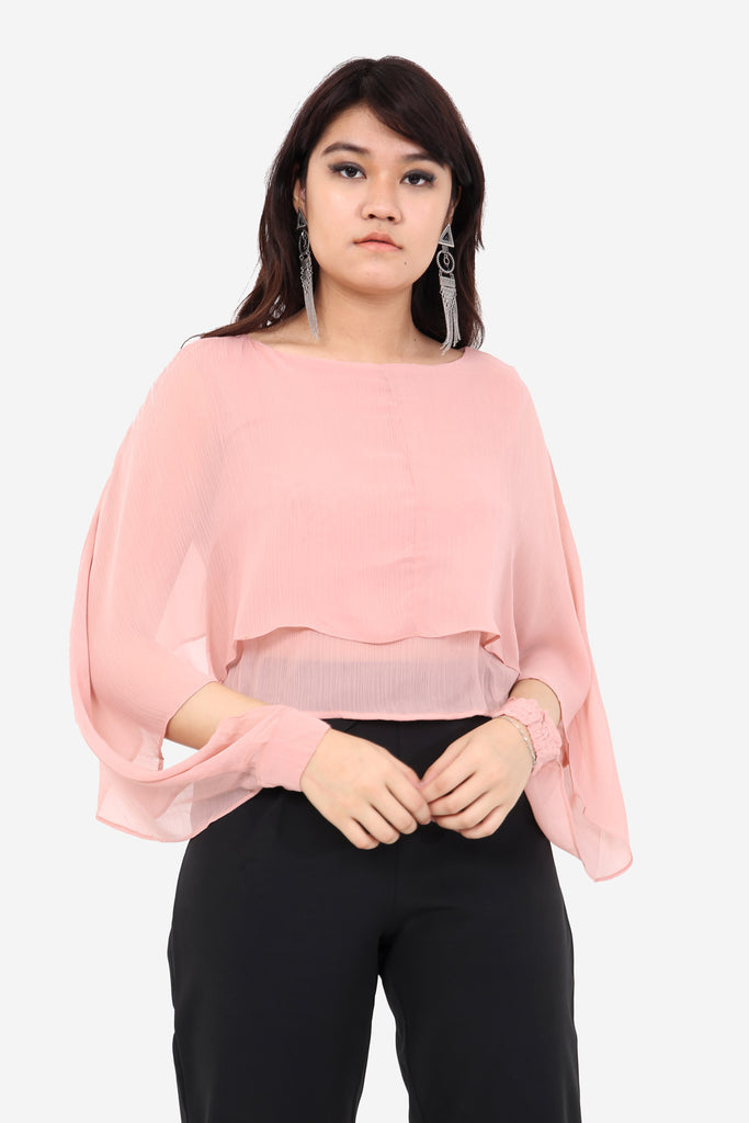 Pink Frill Crop Top