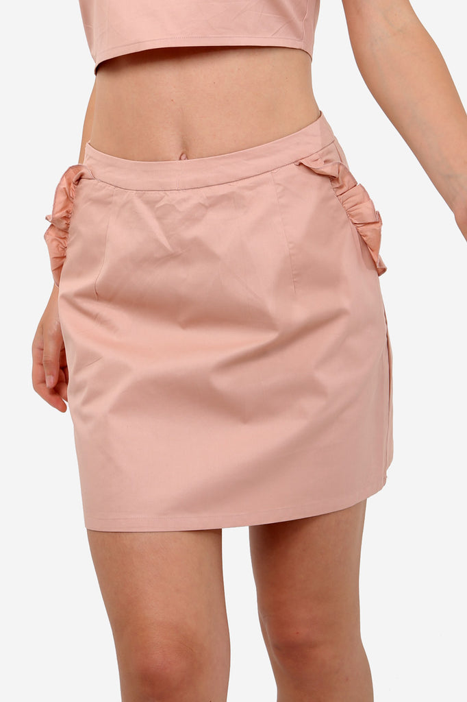 Pink High Waisted Mini Skirt