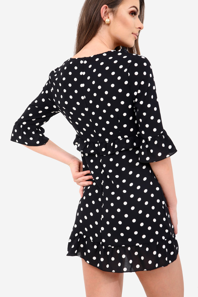 Black Polka Dot Tea Dress