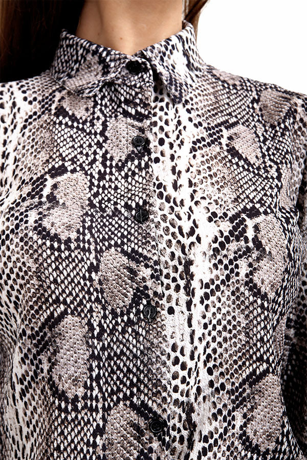 Snake / Animal Print Long Sleeve Shirt