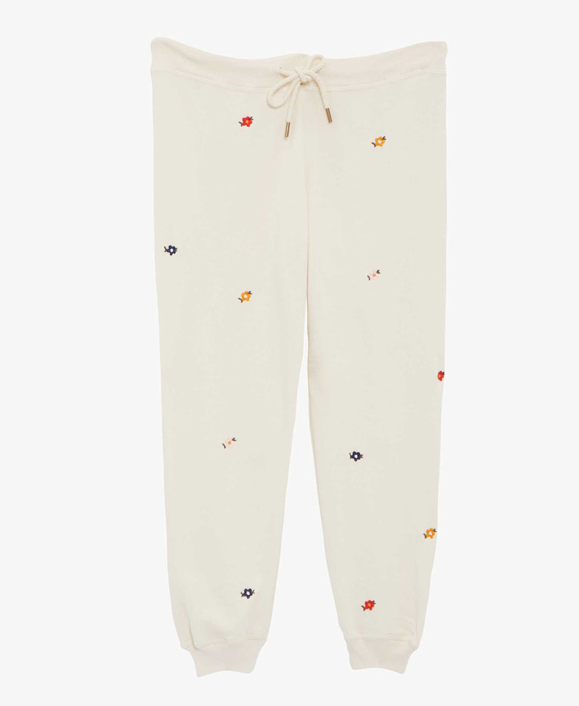 The Great The Cropped Sweatpants Floral