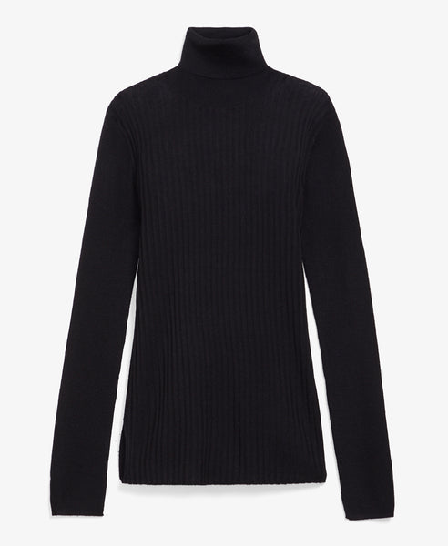 Ribbed Black Turtleneck