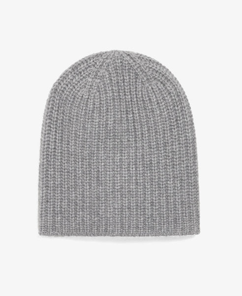 Grey Cashmere Knit Hat