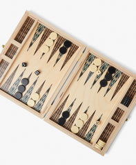 Wooden Travel Backgammon Set