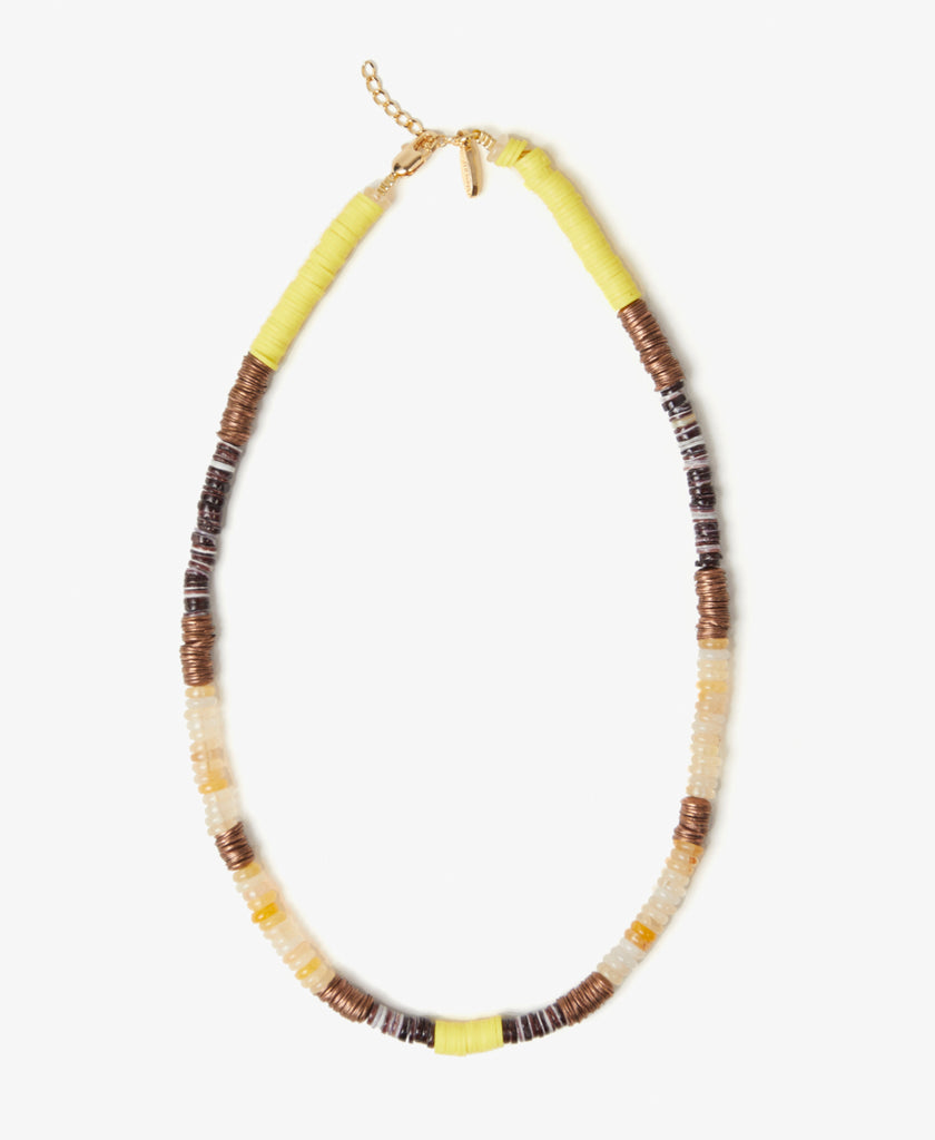 Disc Bead Yellow Necklace