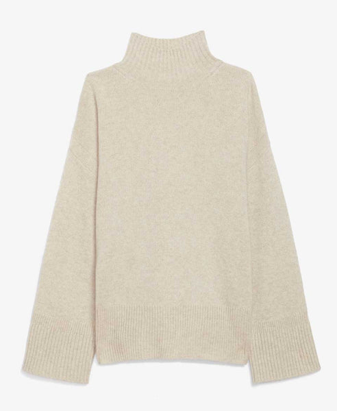 Oversized Ecru Turtleneck