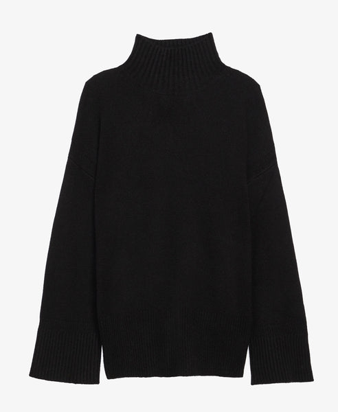 Oversized Black Turtleneck