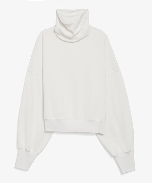 White Turtleneck Sweatshirt