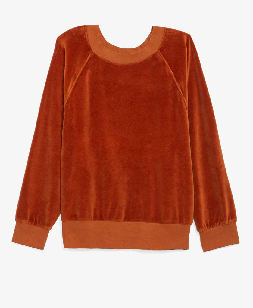 Orange Velour Sweatshirt
