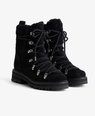 Sport Shearling Fur Lace-Up Boots