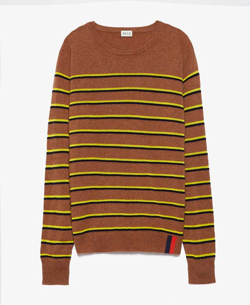 Samara Brown Stripe Sweater