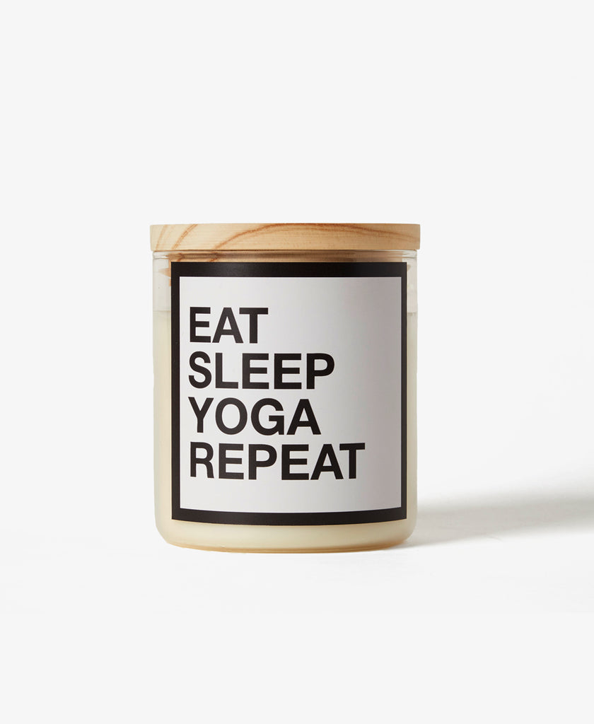 Eat Sleep Yoga Repeat Candle