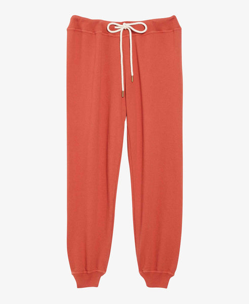 Rust Cropped Jogger Sweatpants
