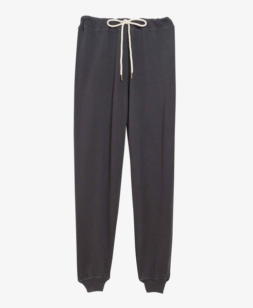 Black Cropped Jogger Sweatpants