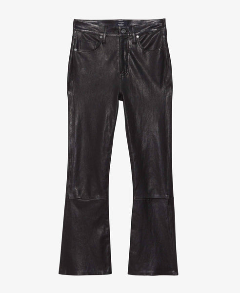 Demy Flare Leather Pants