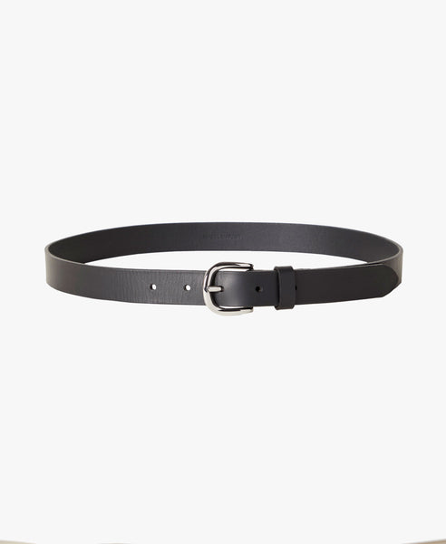 Zap Classic Black Leather Belt