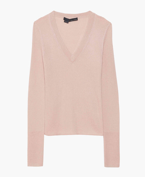 Devon Blush V-Neck Sweater
