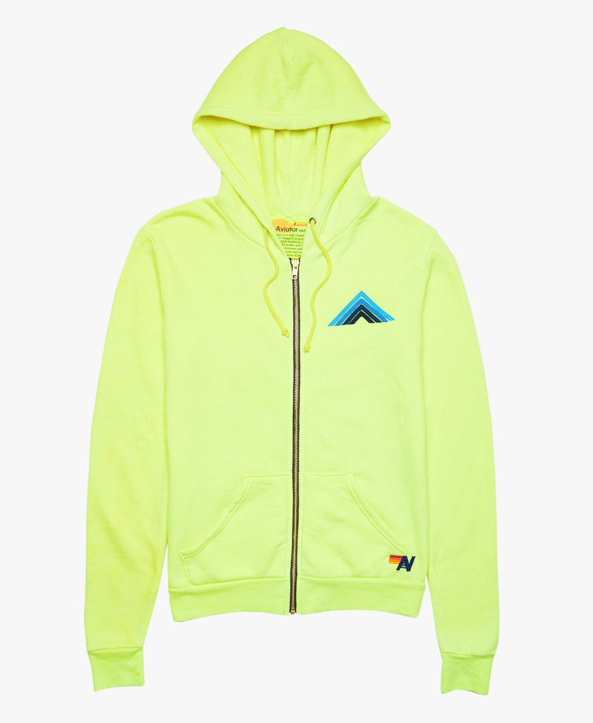 Mountain Stitch Zip Up Hooded Sweatshirt