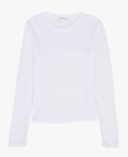 Classic White Long Sleeve Tee